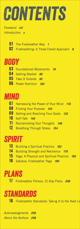 Firebreather Fitness Table of Contents